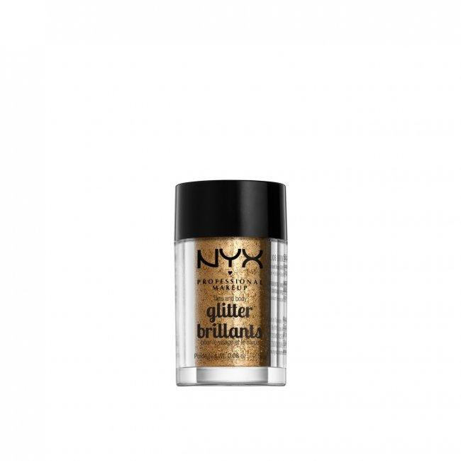 NYX Pro Makeup Face & Body Glitter Bronze 2.5g