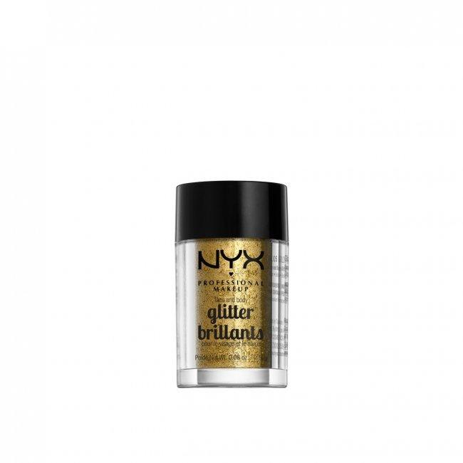 NYX Pro Makeup Face & Body Glitter Gold 2.5g