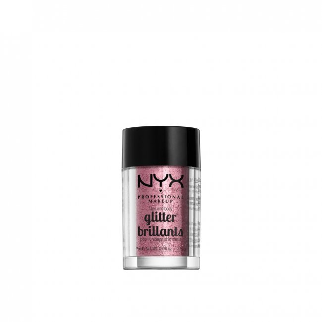 NYX Pro Makeup Face & Body Glitter Rose 2.5g