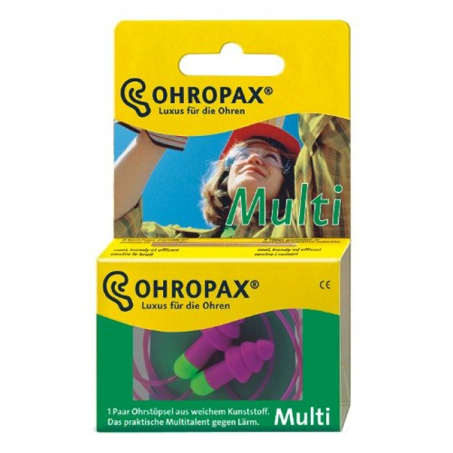 Ohropax Multi Wired Plastic Ear Plugs 1 Pair