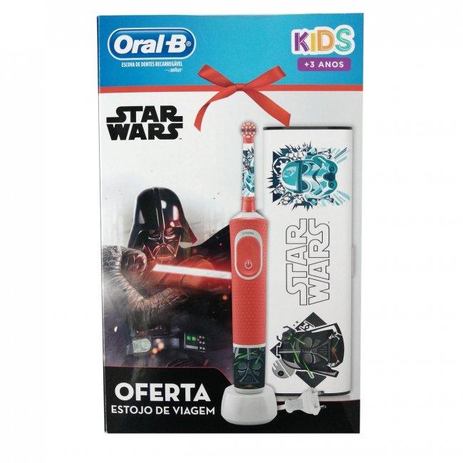COFFRET: Oral-B Kids 3+ Years Electric Toothbrush Star Wars + Travel Case