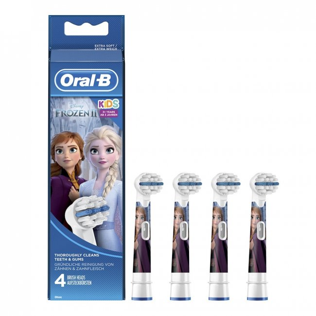 Oral-B Stages Power Replacement Head Electric Toothbrush Frozen x4