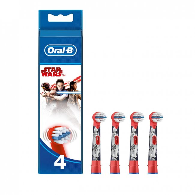 Oral-B Stages Power Replacement Head Electric Toothbrush Star Wars x4