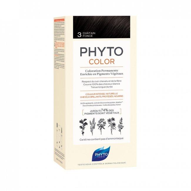 Phytocolor Cor Permanente Tom 3 Castanho Escuro