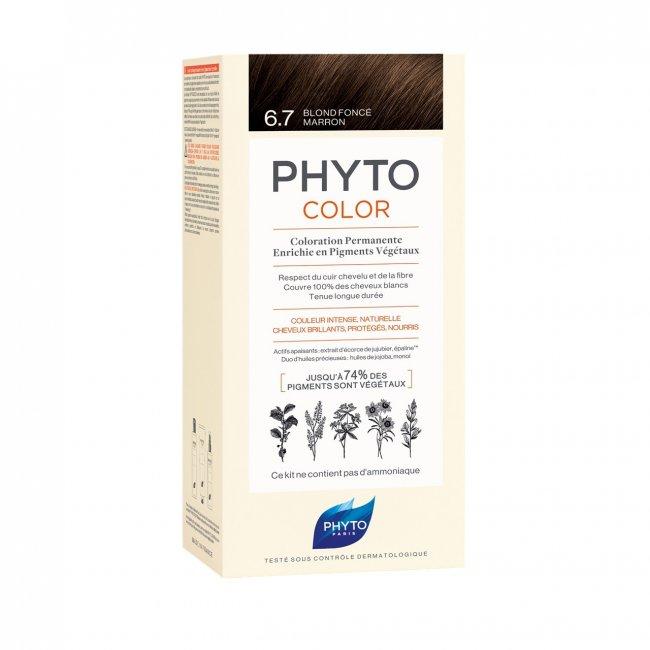 Phytocolor Permanent Color Shade 6.7 Dark Chestnut Blonde