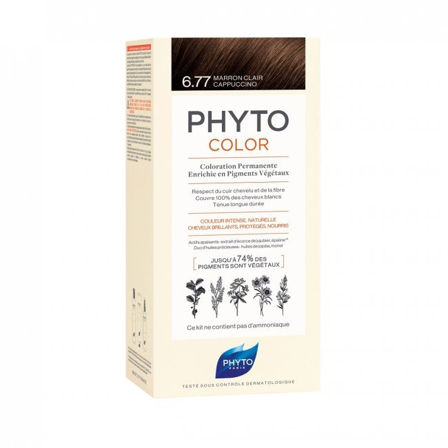 Phytocolor Permanent Color Shade 6.77 Light Brown Cappuccino