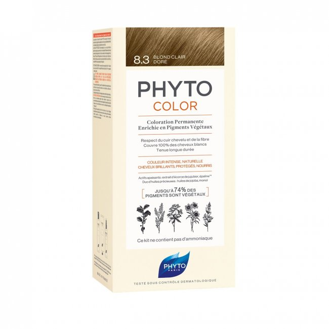 Phytocolor Permanent Color Shade 8.3 Light Golden Blonde