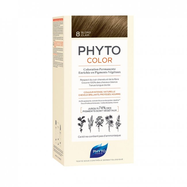 Phytocolor Permanent Color Shade 8 Light Blonde