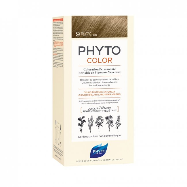 Phytocolor Permanent Color Shade 9 Very Light Blonde