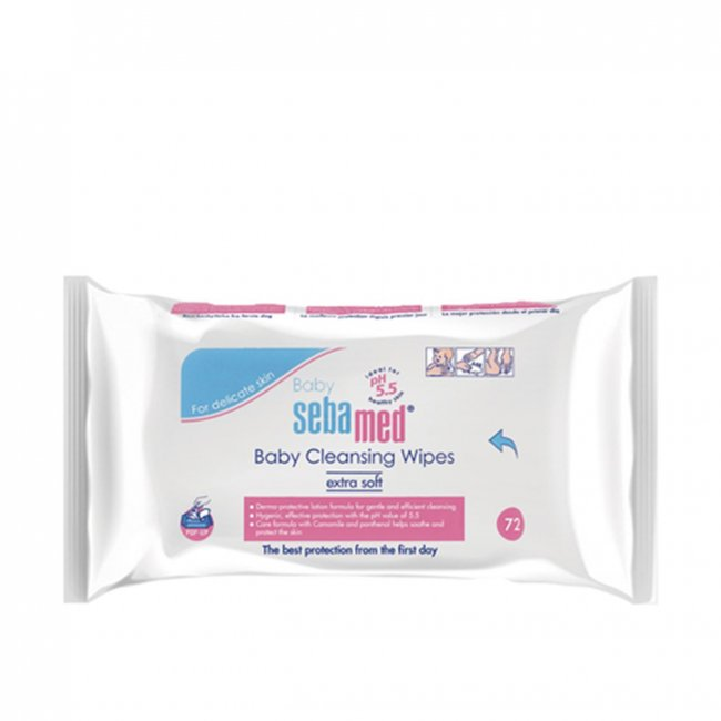 Sebamed Baby Cleansing Wipes x72