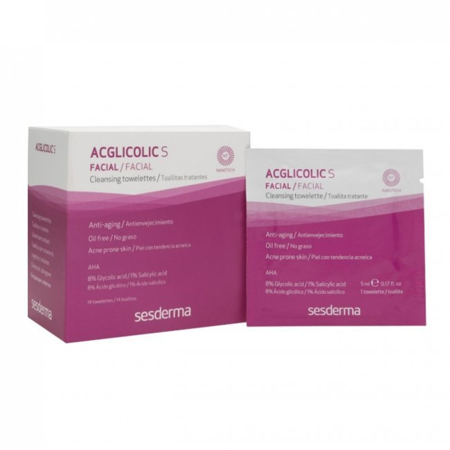 Sesderma Acglicolic S Cleansing Towelettes x14