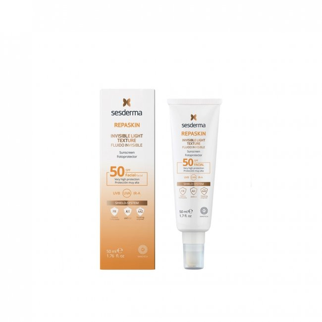 Sesderma Repaskin Protector Facial Invisível Textura Leve FPS50 50ml
