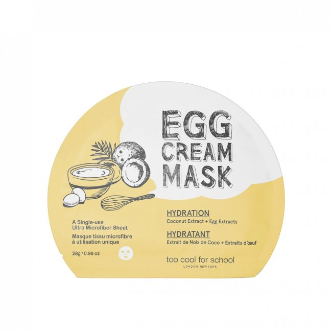 Too Cool For School Egg Cream Hydration Mask 28g