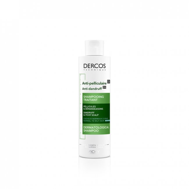 Vichy Dercos Anti-Dandruff DS Shampoo for Normal to Oily Hair 200ml