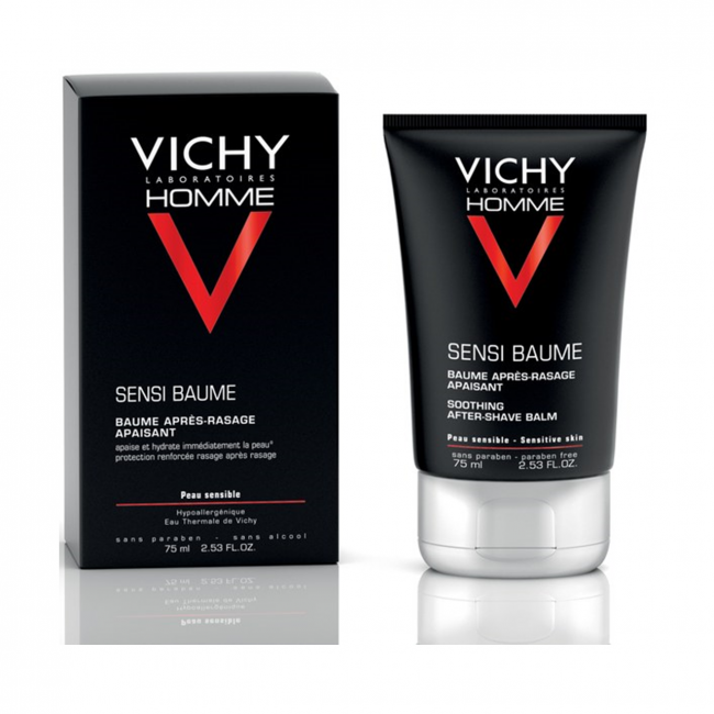 Vichy Homme Sensi Baume After Shave Balm 75 Ml Aftershave & Pre-shave Health & Beauty