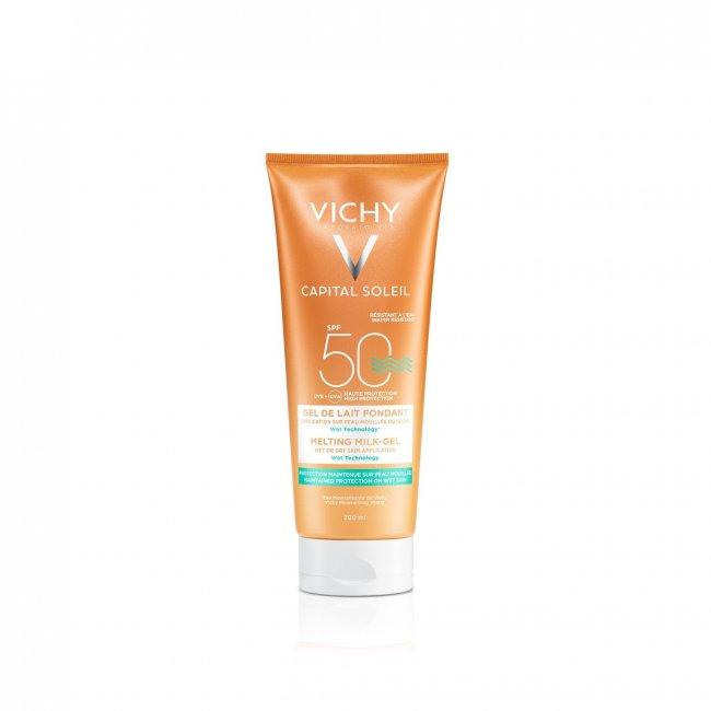 Vichy Idéal Soleil Leite-gel Fundente FPS50 200ml