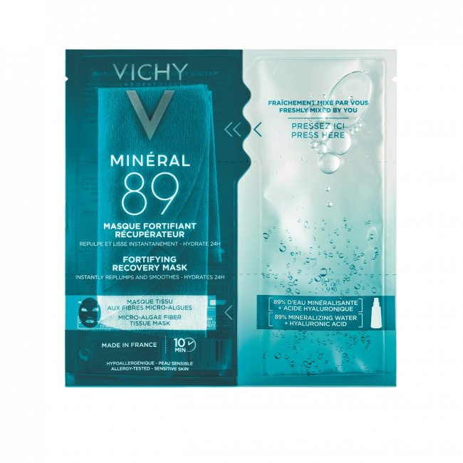 Vichy Minéral 89 Fortifying Recovery Tissue Mask 29g