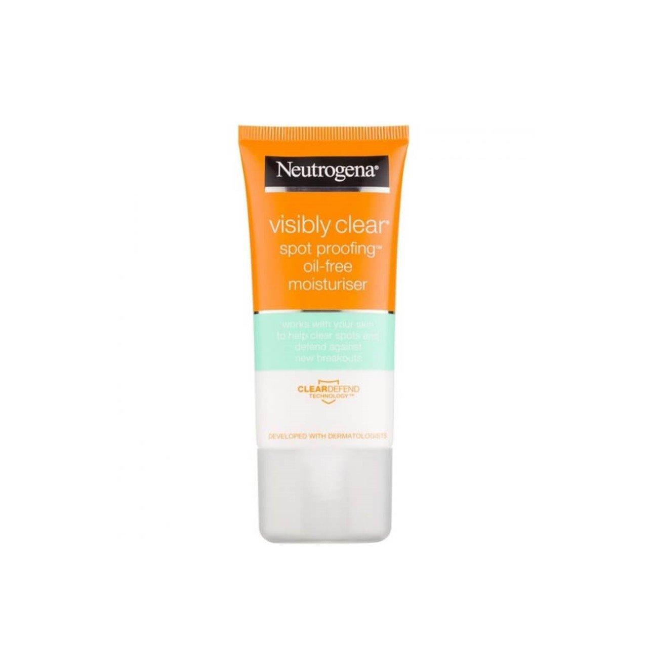 neutrogena visibly clear oil free moisturiser 50ml