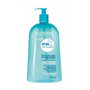 Bioderma ABCDerm Gel Moussant Mild Cleansing Foaming Gel Face Body 1L