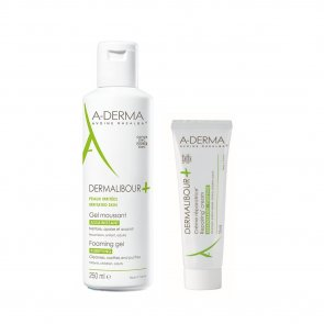 PROMOTIONAL PACK: A-Derma Dermalibour Foaming Gel 250ml + Repairing Cream 15ml
