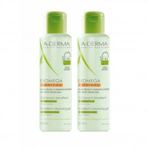 PROMOTIONAL PACK: A-Derma Exomega Control Emollient Cleansing Gel 500ml x2