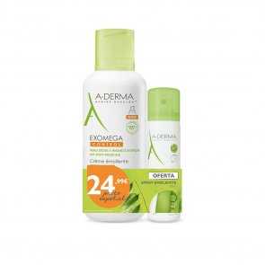PACK PROMOCIONAL: A-Derma Exomega Control Emollient Cream 400ml +  Emollient Spray 50ml