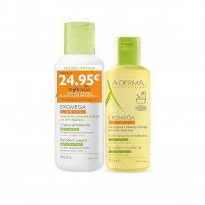 PROMOTIONAL PACK: A-Derma Exomega Control Emollient Cream 400ml + Shower Oil 200ml
