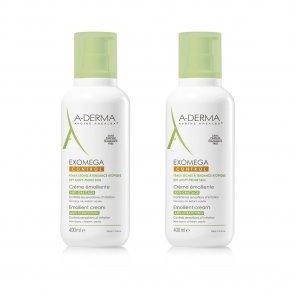 PROMOTIONAL PACK: A-Derma Exomega Control Emollient Cream 400ml x2