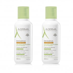 PROMOTIONAL PACK: A-Derma Exomega Control Emollient Cream 400ml x2