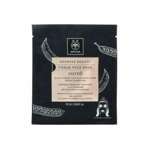 APIVITA Express Beauty Black Tissue Face Mask Carob 20ml