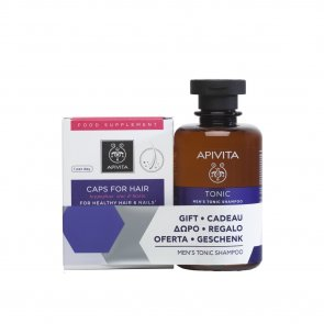 PROMOTIONAL PACK: APIVITA Hair Care Capsules x30 + Men's Tonic Shampoo 250ml