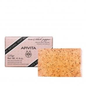 APIVITA Natural Soap with Rose & Black Pepper 125g