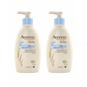PACK PROMOCIONAL: Aveeno Baby Daily Care Hair & Body Wash 300ml x2