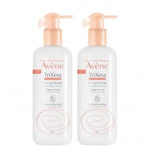 PROMOTIONAL PACK: Avène TriXera Nutrition Nutri-Fluid Lotion 400mlx2