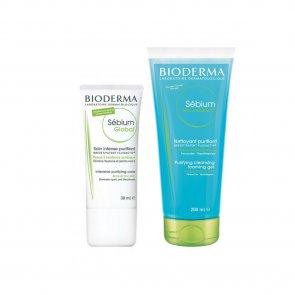 PROMOTIONAL PACK: Bioderma Sébium Global 30ml + Bioderma Sébium Gel Moussant 200ml