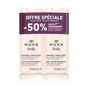 PROMOTIONAL PACK: NUXE Body Long-Lasting Deodorant Roll-On 50 ml x2