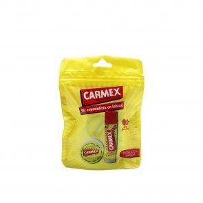 PROMOTIONAL PACK: Carmex Original Flavour Lip Balm 7.5g + Strawberry Lip Balm 4.25g