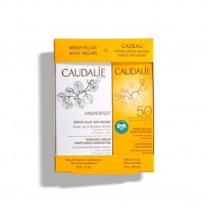 GIFT SET: Caudalie Vinoperfect Serum 30ml + Anti-Wrinkle Face Suncare SPF50 25ml