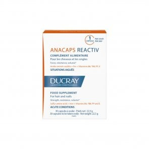 Ducray Anacaps Reactiv Hair&Nails Acute Conditions x30caps