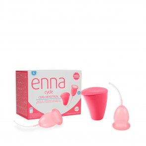 Enna Cycle Menstrual Cup Twin Pack Large With Sterilizer