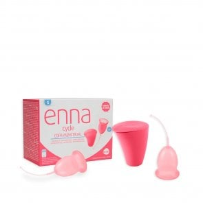 Enna Cycle Menstrual Cup Twin Pack Small With Sterilizer