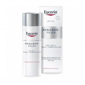 Eucerin Hyaluron-Filler Creme de Dia Pele Mista FPS15 50ml