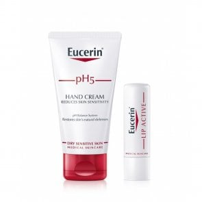 PROMOTIONAL PACK: Eucerin pH5 Hand Cream 75ml + Lip Active Balm 4,8g