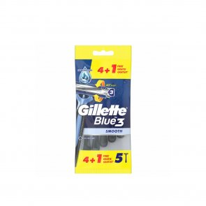 PROMOTIONAL PACK: Gillette Blue3 Smooth Disposable Razors x5