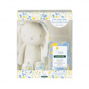 GIFT SET: Klorane Baby Petit Brin Scented Water for Baby 50ml + Bunny Plushie