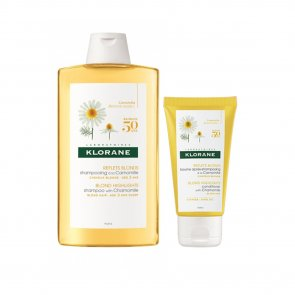 PROMOTIONAL PACK: Klorane Blond Highlights Shampoo with Chamomile 400ml + Balm 50ml