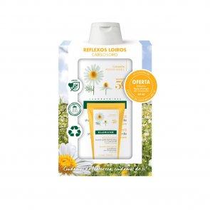 PACK PROMOCIONAL: Klorane Blond Highlights Shampoo with Chamomile 400ml + Balm 50ml