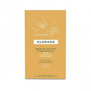 Klorane Cold Wax Strips with Sweet Almond for Legs