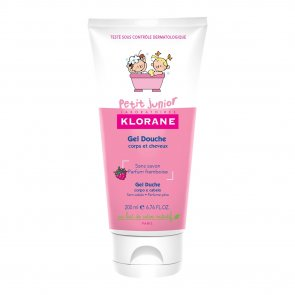 Klorane Petit Junior Shower Gel Hair and Body Raspberry 200ml