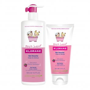 PROMOTIONAL PACK: Klorane Petit Junior Shower Gel Hair and Body Raspberry 500ml + 200ml